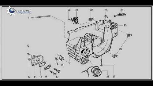 Complete Husqvarna 137 Chainsaw Assembly