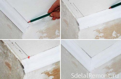 How to Cut Corners of a Ceiling Plinth Correctly