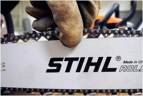 How to Draw a Chain on a Stihl 180 Chainsaw