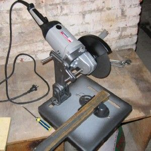 How to Make a Fixture for an Angle Grinder