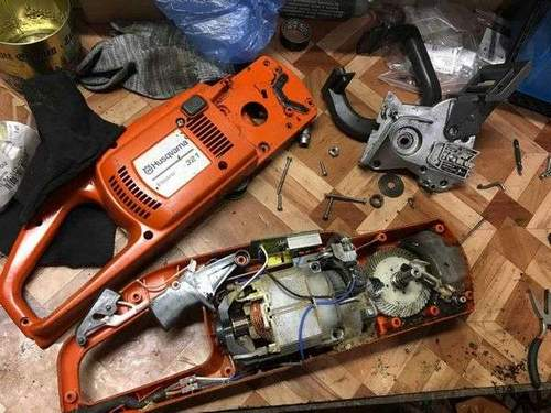 Saw Husqvarna 321 How to Disassemble