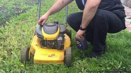 What Oil To Pour Into A Lawn Mower?