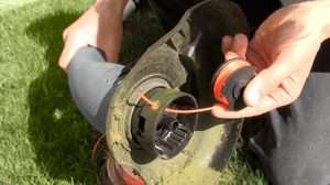 How To Wind A Line On A Lawn Mower