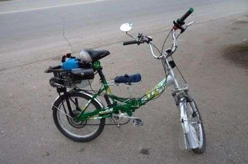 How To Make A Motorbike Out Of Trimmer Yourself