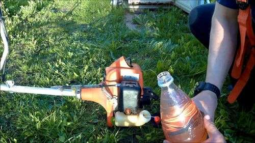 Echo Trimmer How To Breed Gasoline With Oil