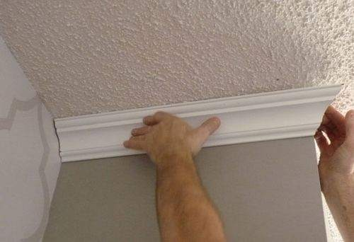 how to cut plastic skirting boards on the ceiling