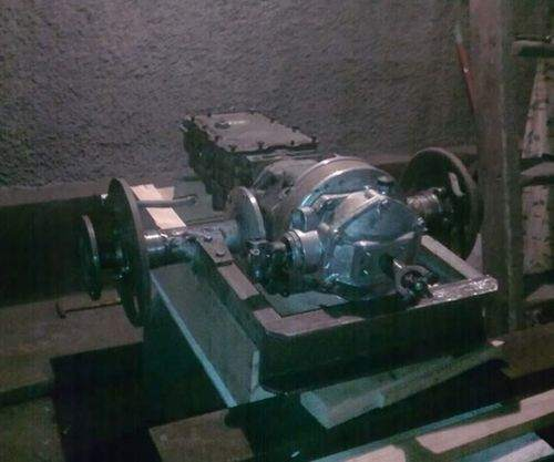 how much oil is poured into the tiller neva gearbox