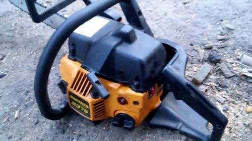 The Chainsaw Chokes When You Press The Gas Cause