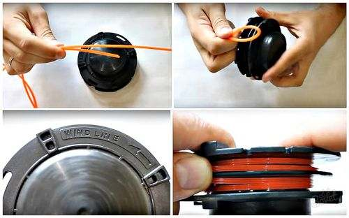 Winding Line On A Trimmer Reel