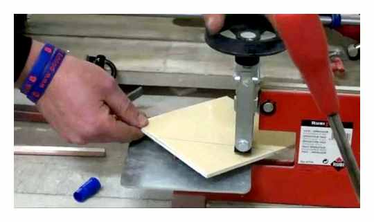 How To Cut Tiles Under 45