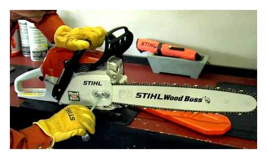 How To Properly Tension The Chain On A Stihl Chainsaw