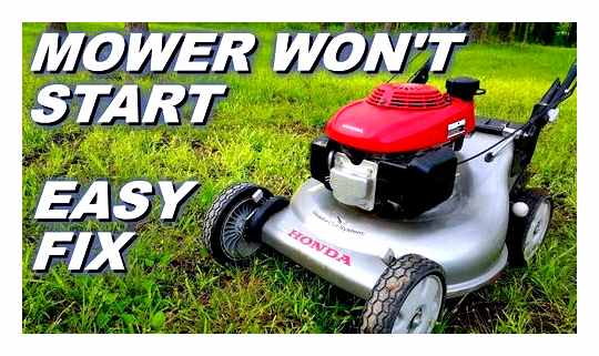 Lawn Mower Does Not Start After Winter