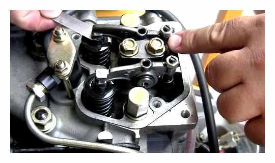 Valve Adjustment On A Gasoline Tiller
